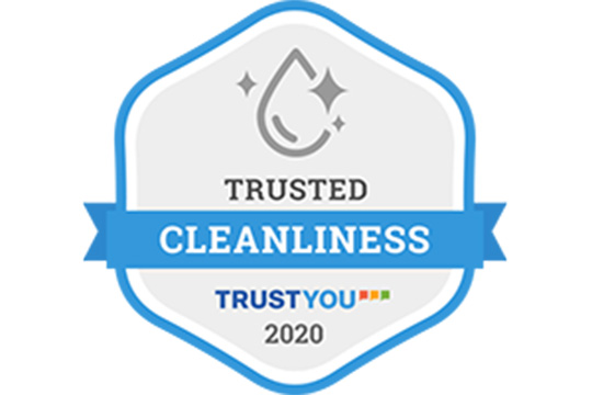 "Hotel Ryumeikan Ochanomizu Honten has acquired the ""Trusted Cleanliness"" badge."